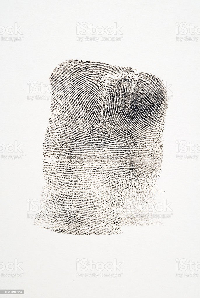 Scarred Fingerprint royalty-free stock photo