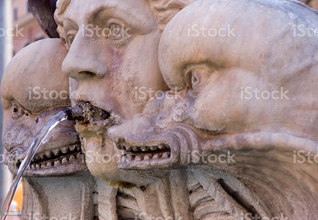 Scarry Fountain stock photo