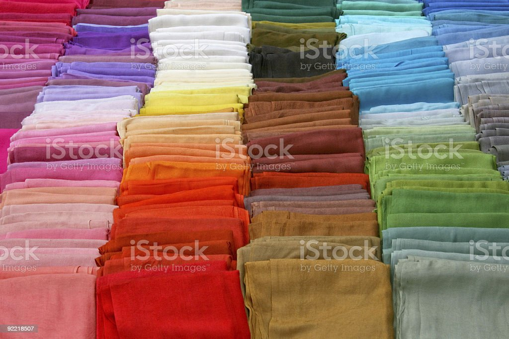 Scarves palette royalty-free stock photo