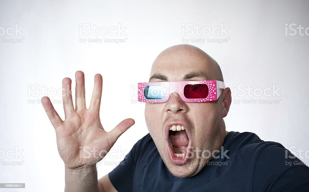 Scary 3D royalty-free stock photo