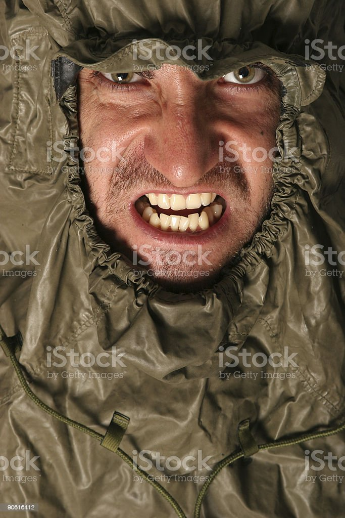 Scary angry man stock photo