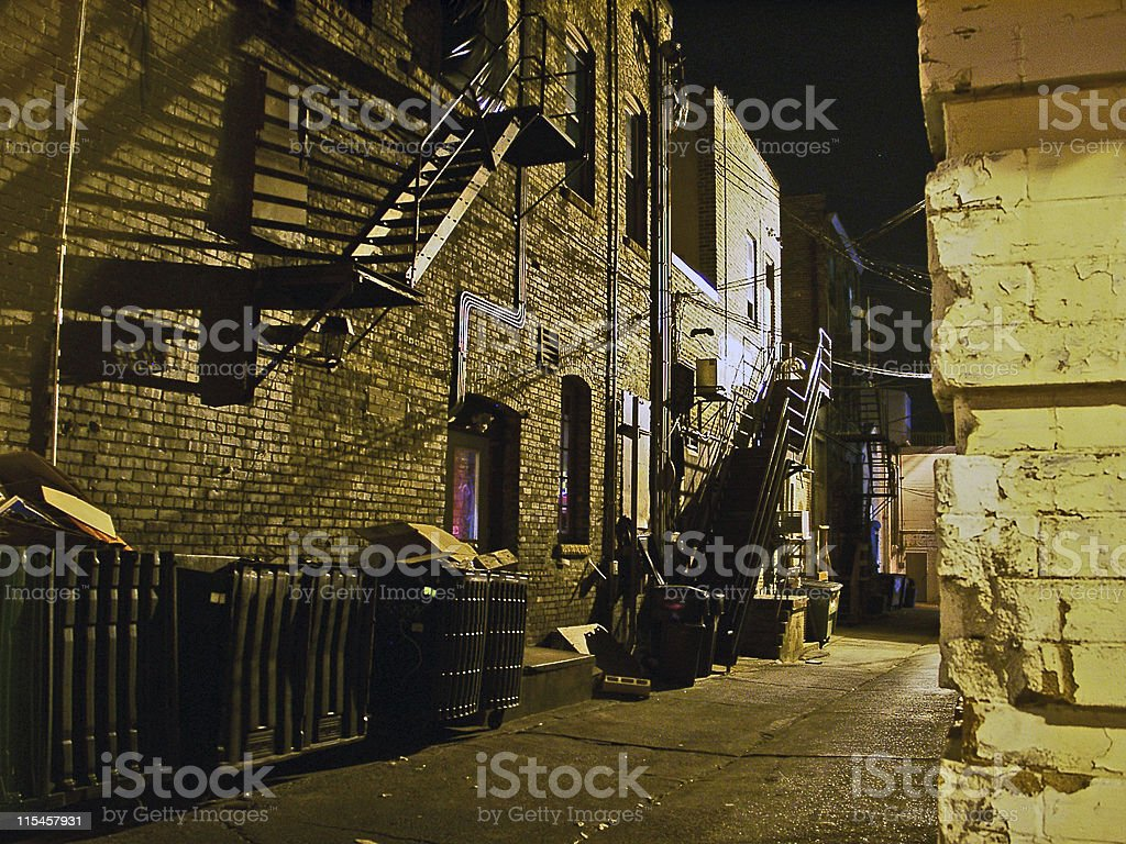 Scary Back Alley royalty-free stock photo