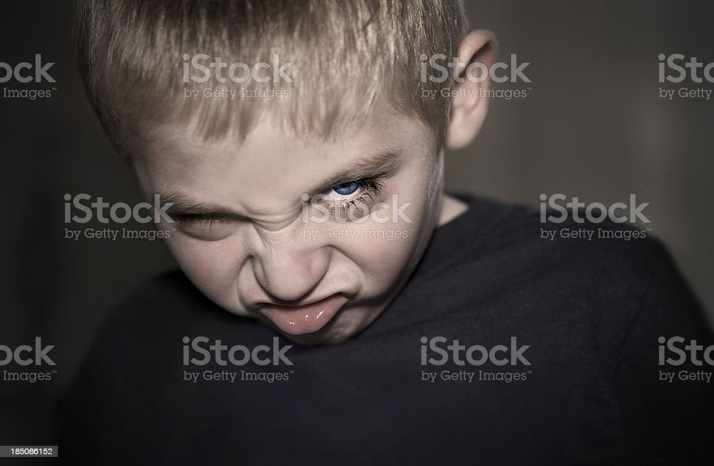 Scary Boy royalty-free stock photo