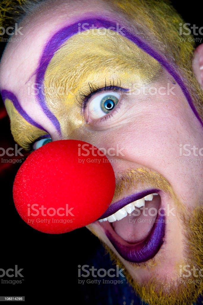 Scary Clown Closeup stock photo