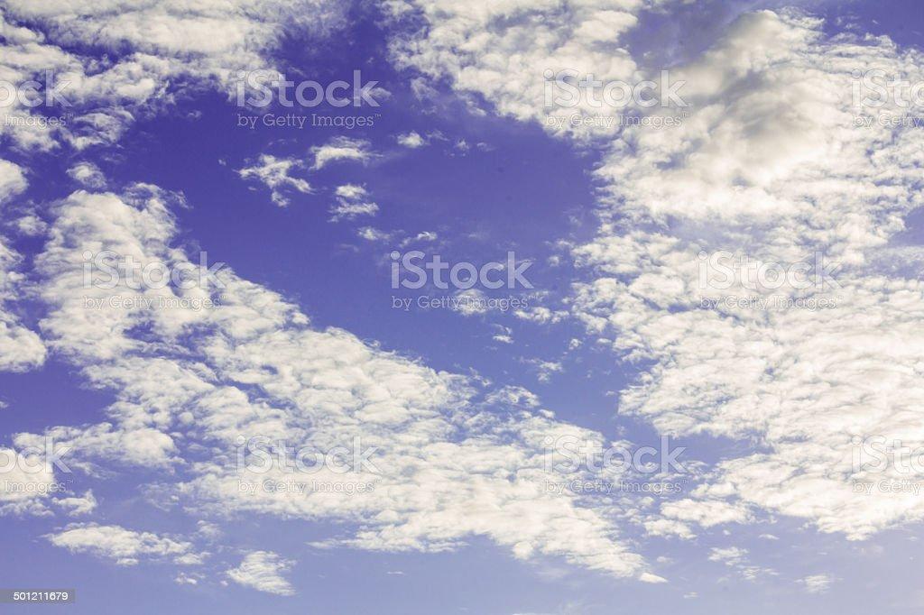Unheimlich dunklen Himmel und Wolken Lizenzfreies stock-foto