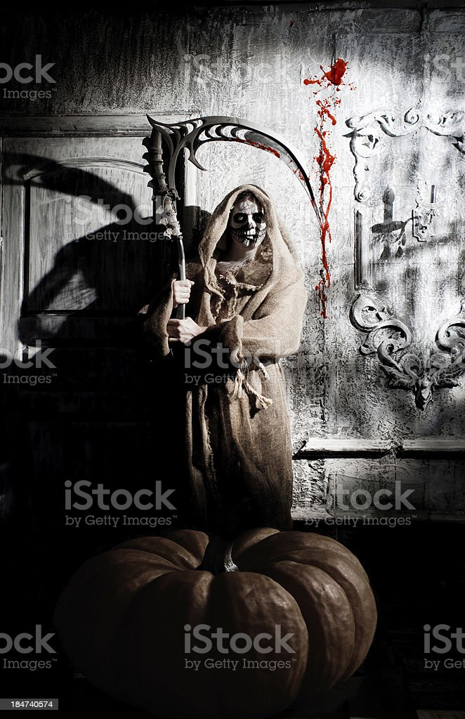 Scary death royalty-free stock photo