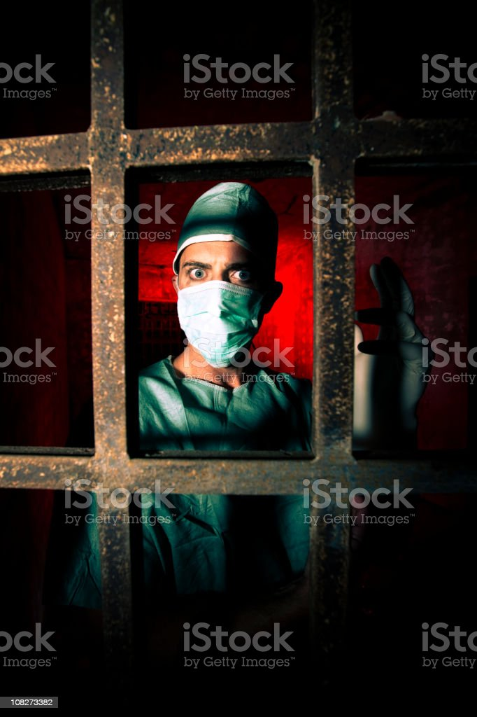Scary Doctor royalty-free stock photo