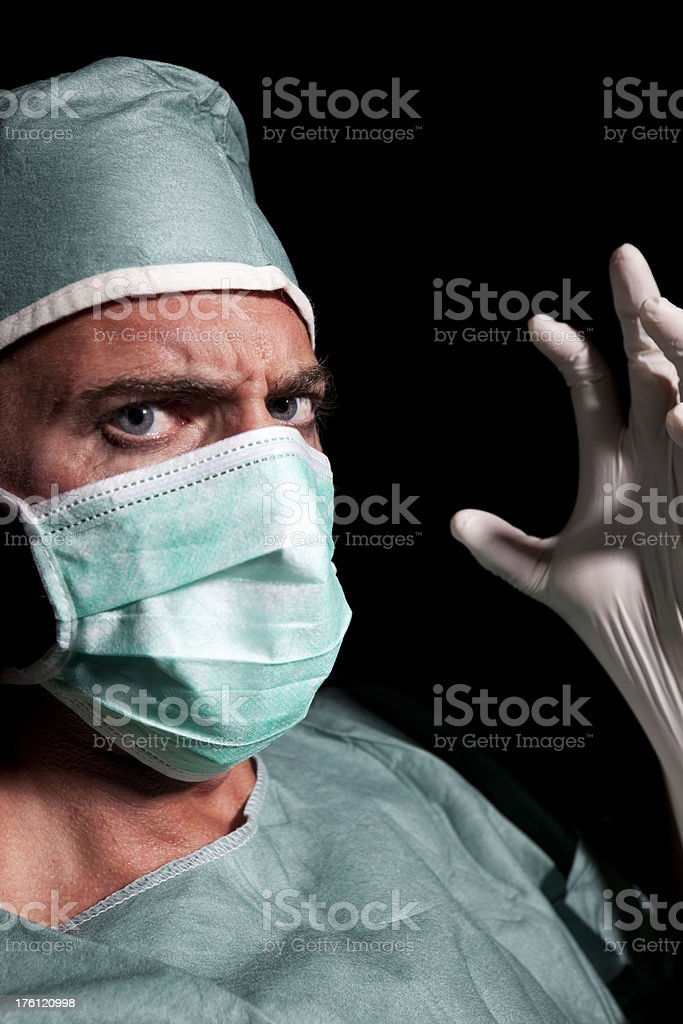 Scary Doctor stock photo