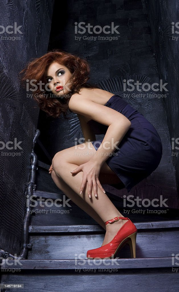 Scary fashion stock photo