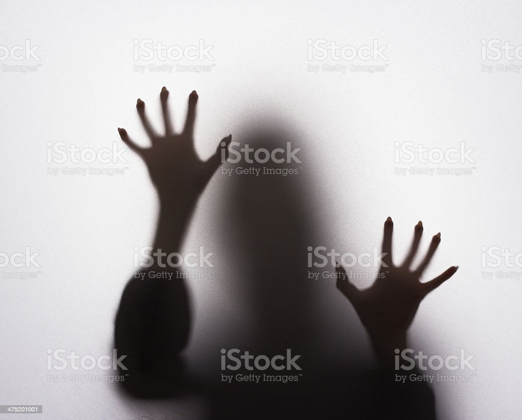 Scary female silhouette royalty-free stock photo
