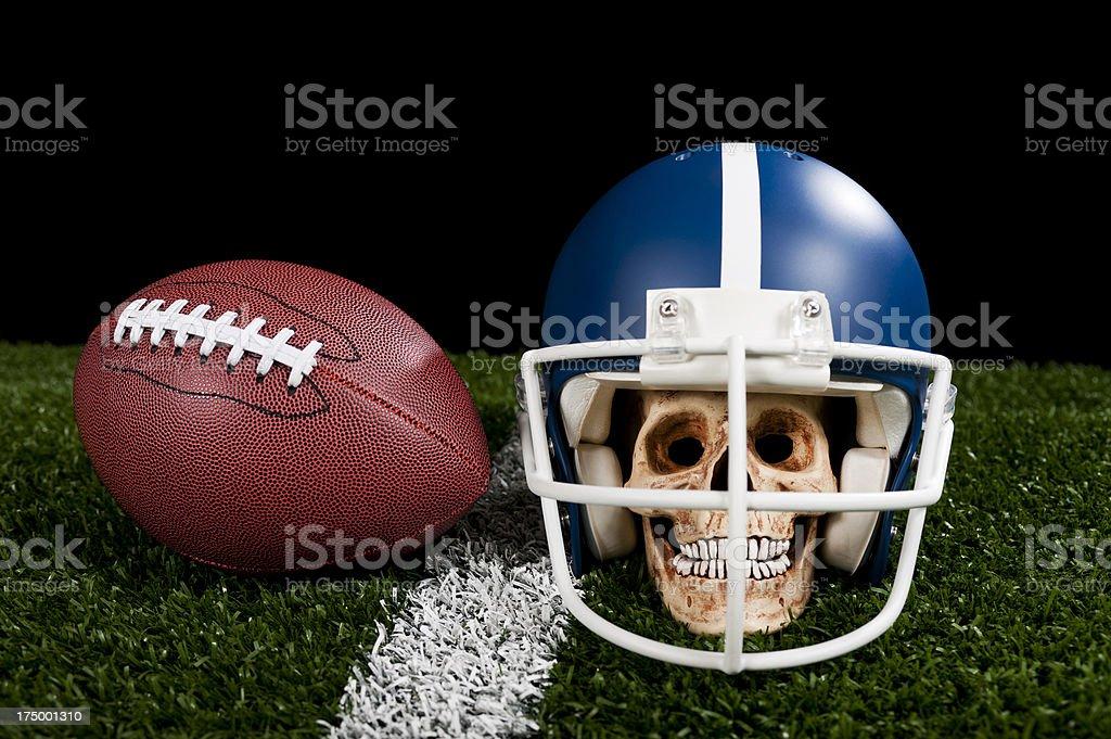 Scary Football Player stock photo