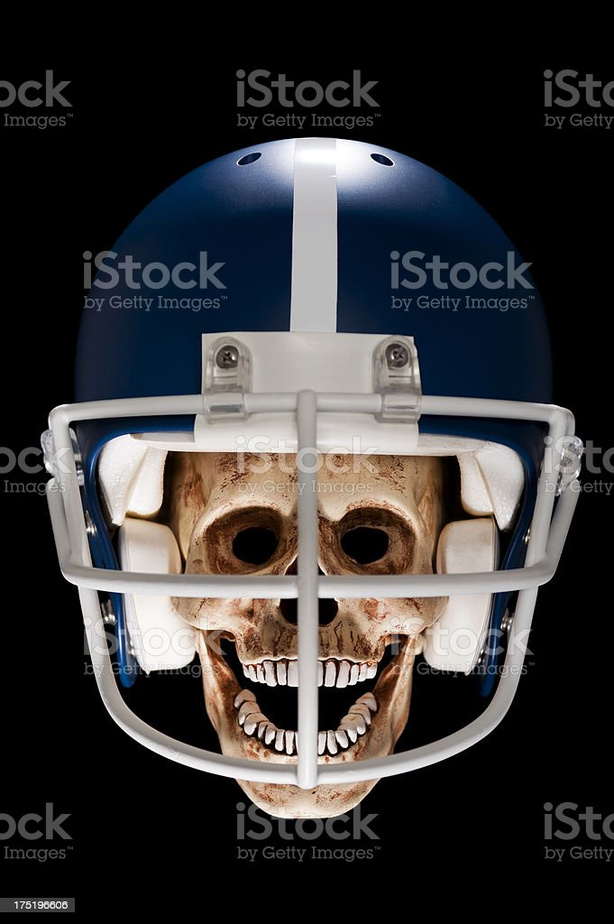 Scary Football Player royalty-free stock photo