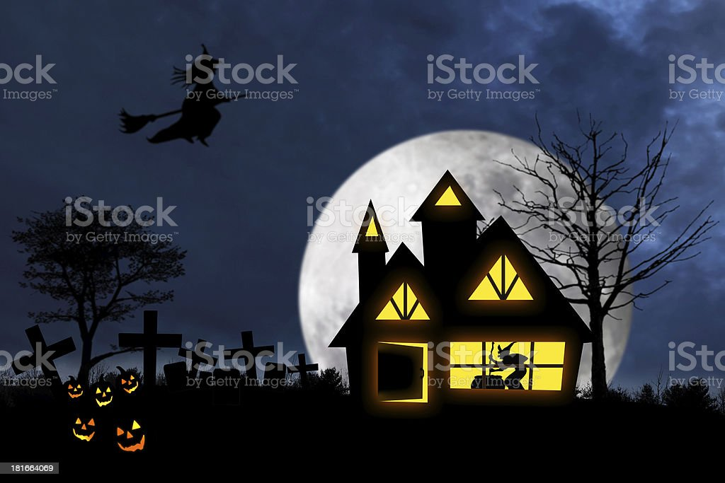 Scary halloween night 1 royalty-free stock photo