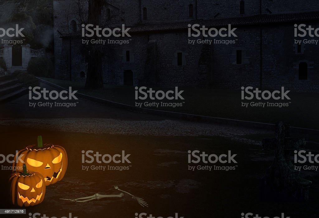 Scary Halloween Scenario stock photo