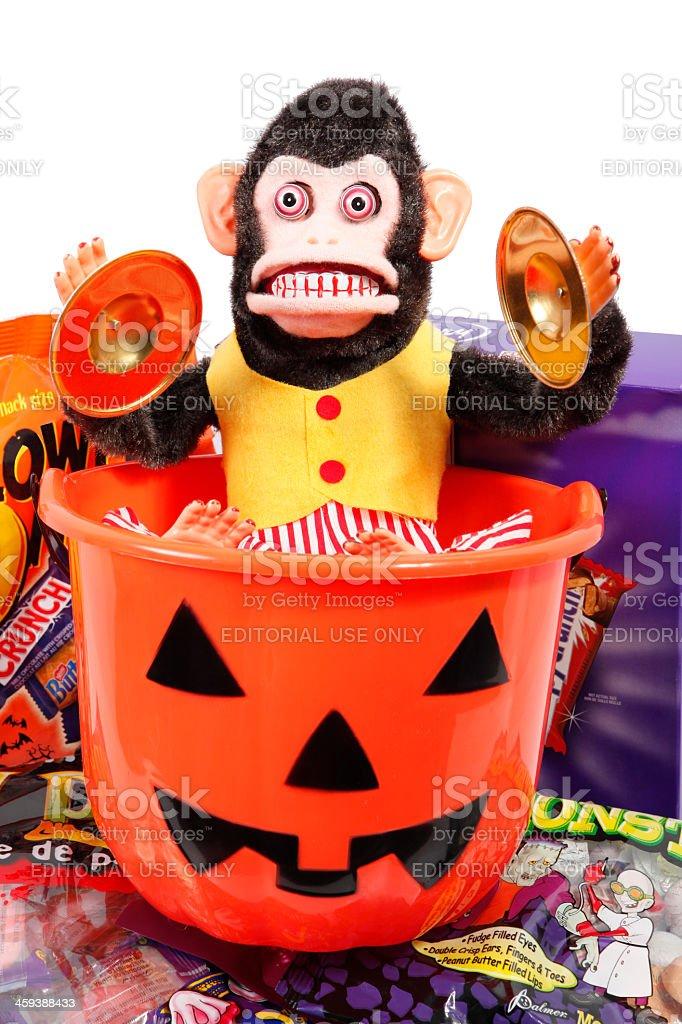 Scary Halloween with treats stock photo
