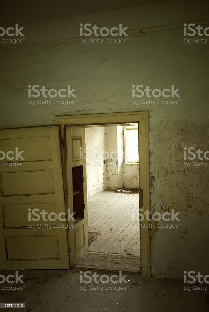Scary house royalty-free stock photo