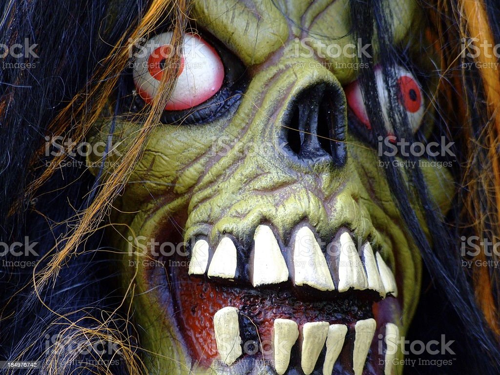 Scary Monster Face royalty-free stock photo