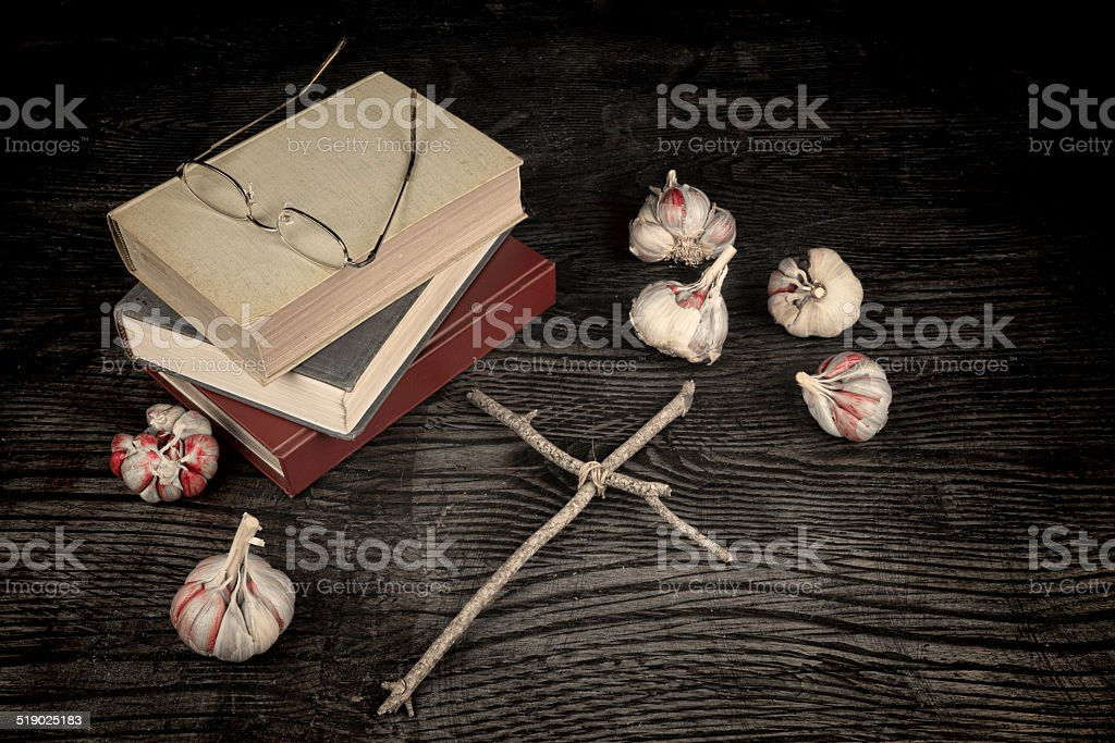Scary novels stock photo