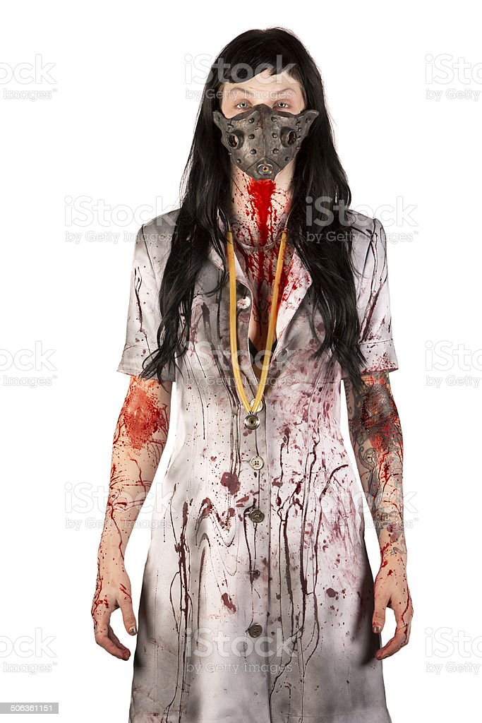 Scary Nurse royalty-free stock photo