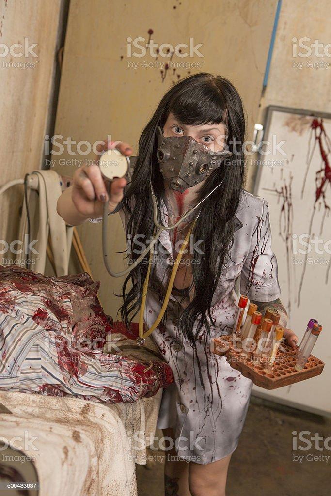 Scary Nurse royalty-free stock photo