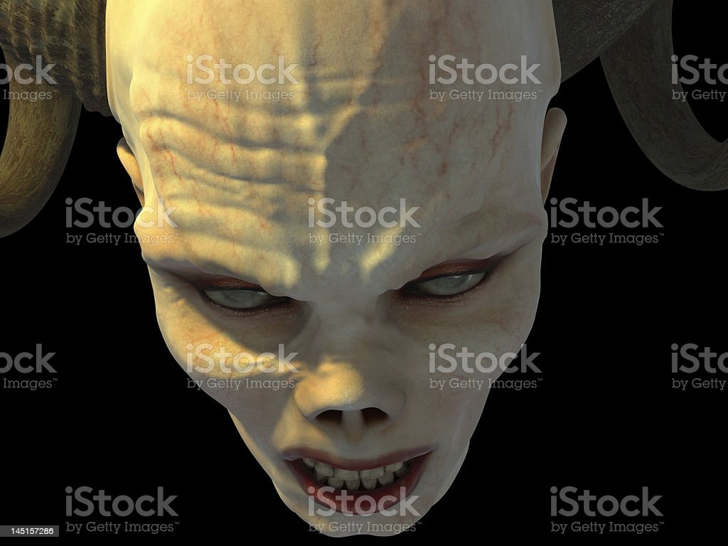 Scary shot of a vampire zombie about to attack stock photo