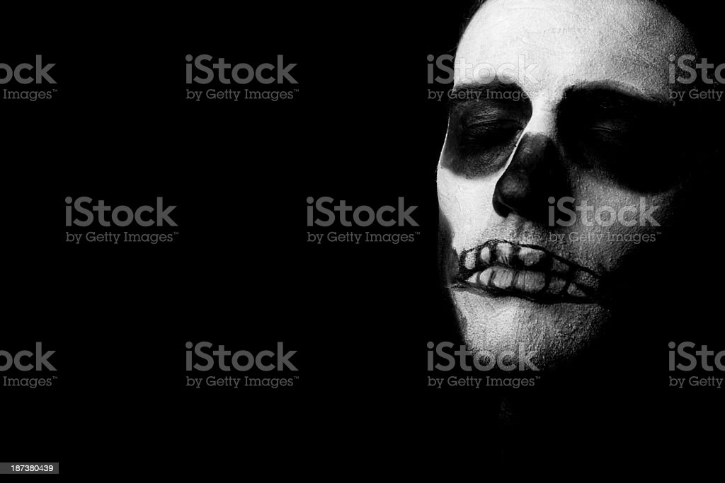 Scary skeleton face royalty-free stock photo