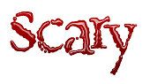Scary spelt out in blood