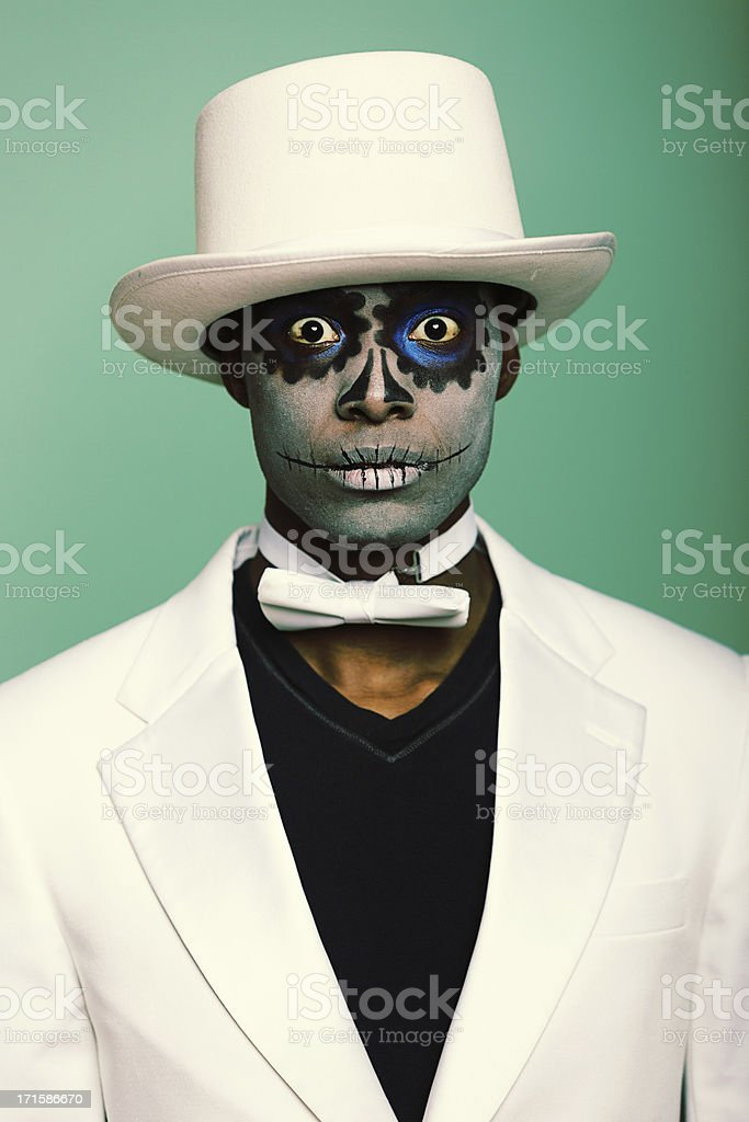 Scary Sugar Skull Man royalty-free stock photo