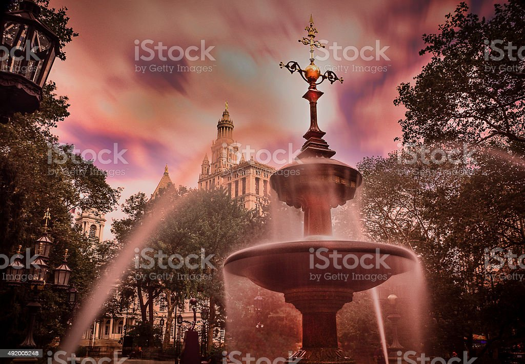 Scary Town stock photo