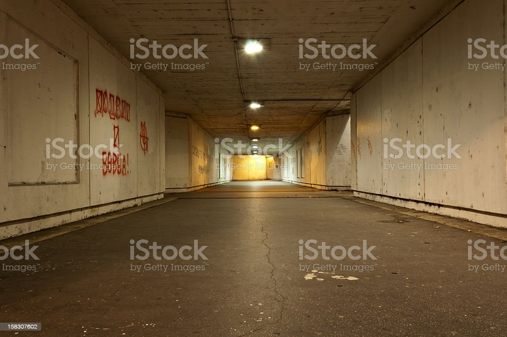 Scary tunnel stock photo