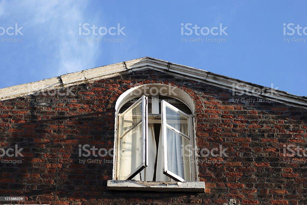 Scary window royalty-free stock photo