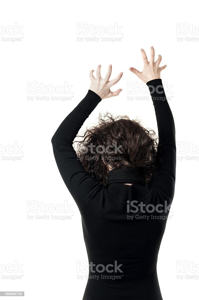 Scary woman from the back royalty-free stock photo