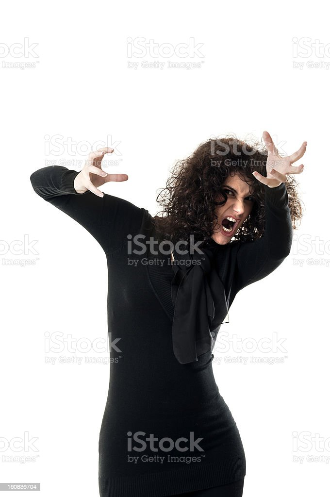 Scary woman royalty-free stock photo