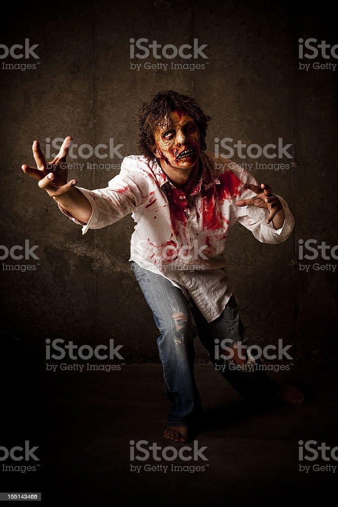 Scary Zombie royalty-free stock photo