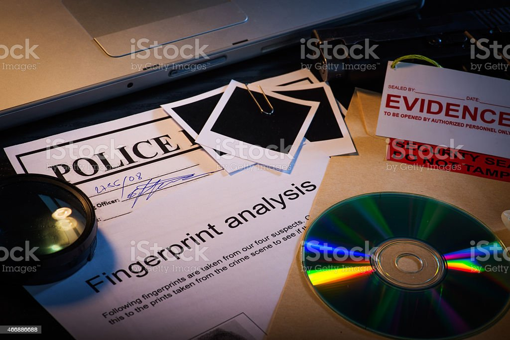 Scatered documents stock photo