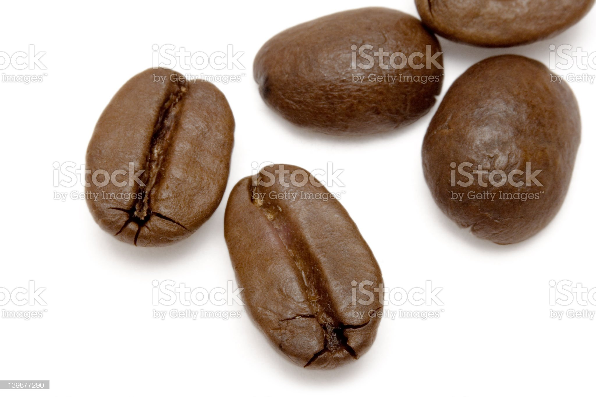 Scattered Coffee Beans royalty-free stock photo