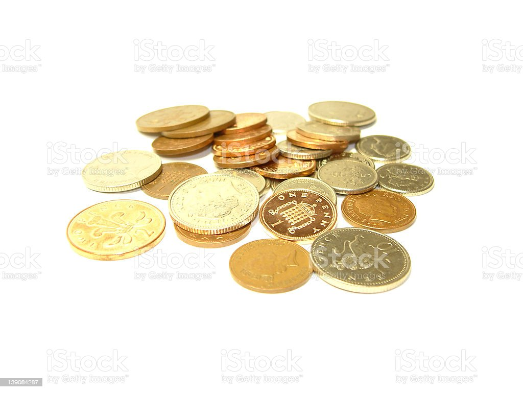 Scattered Coins royalty-free stock photo