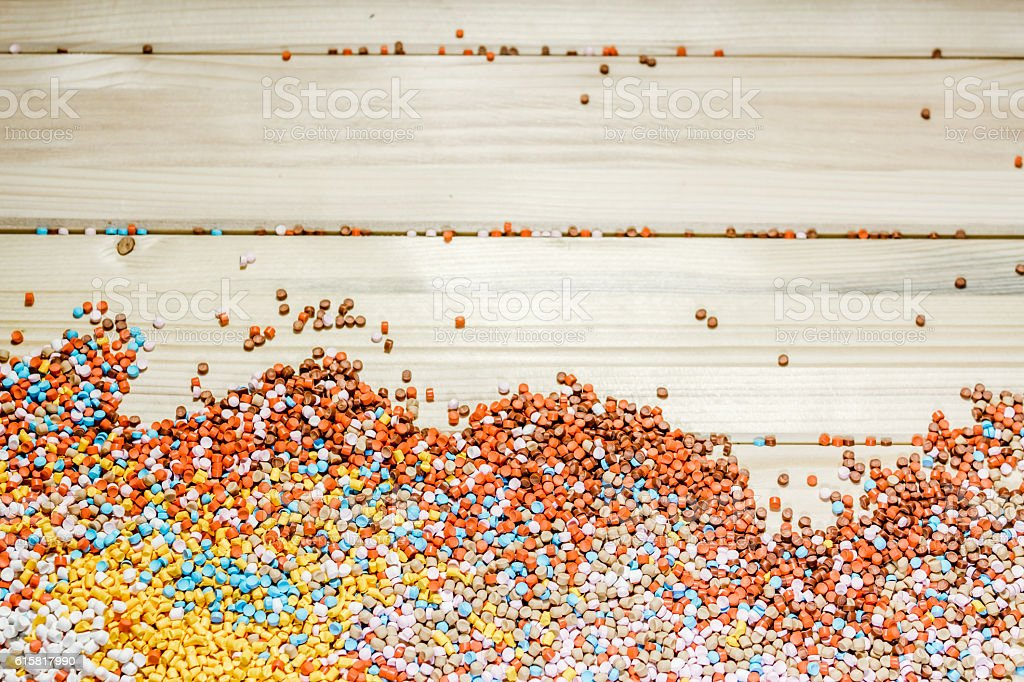 Scattered colorful particles stock photo