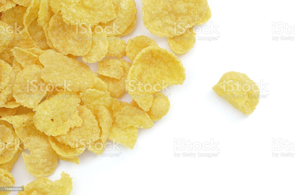 Scattered Cornflakes stock photo