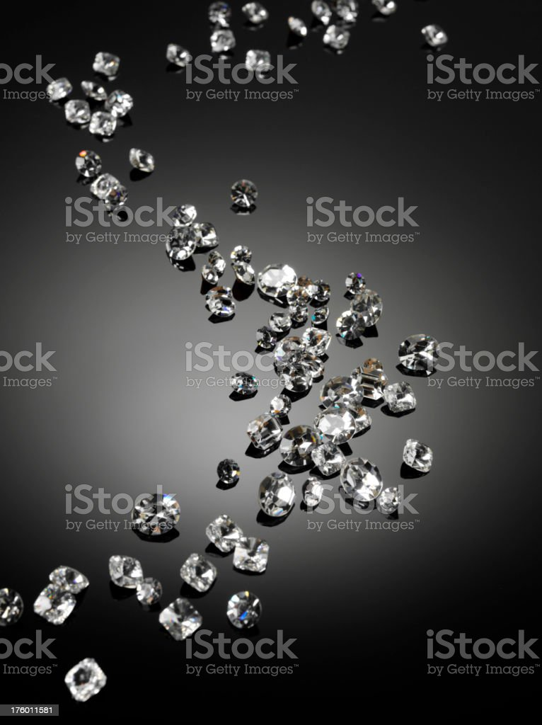 Scattered Diamonds royalty-free stock photo