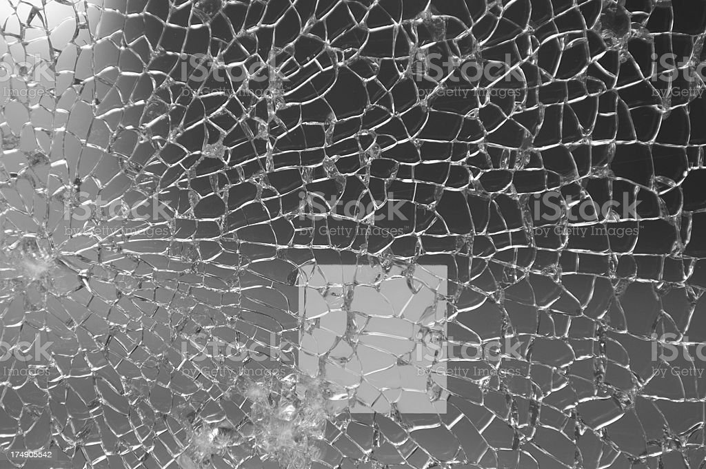 scattered glass (b/w) stock photo