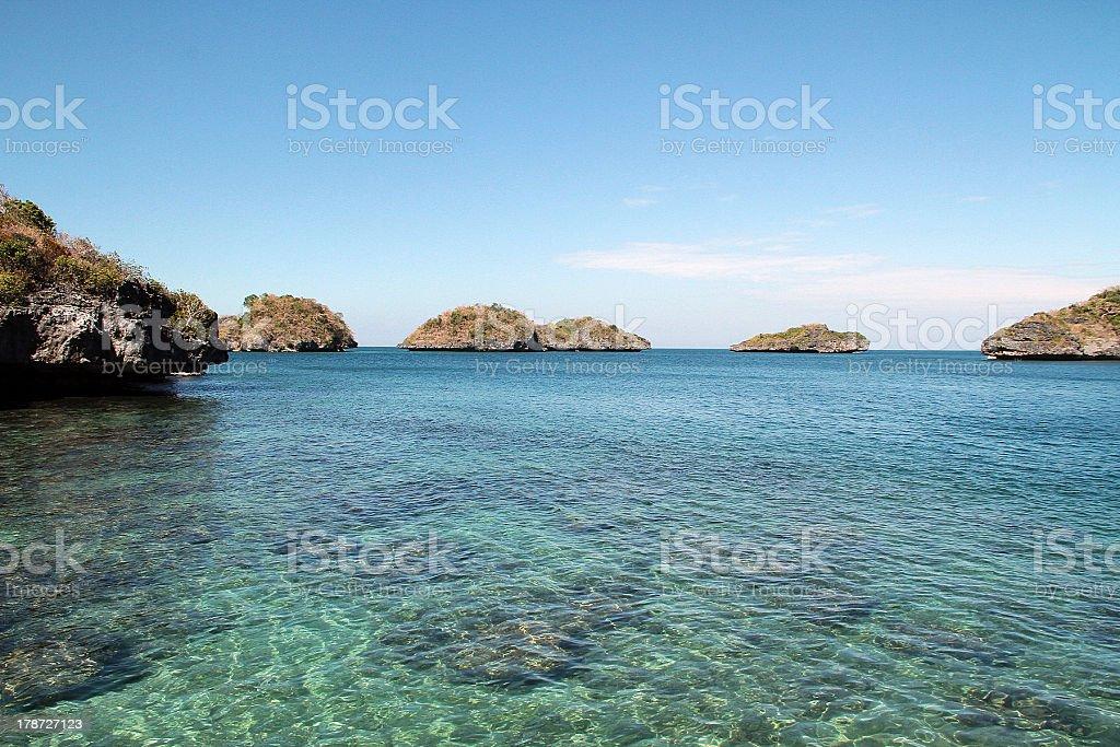 Sparsi isole, Filippine foto stock royalty-free