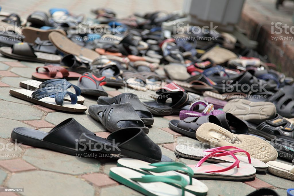 Scattered sandals royalty-free stock photo