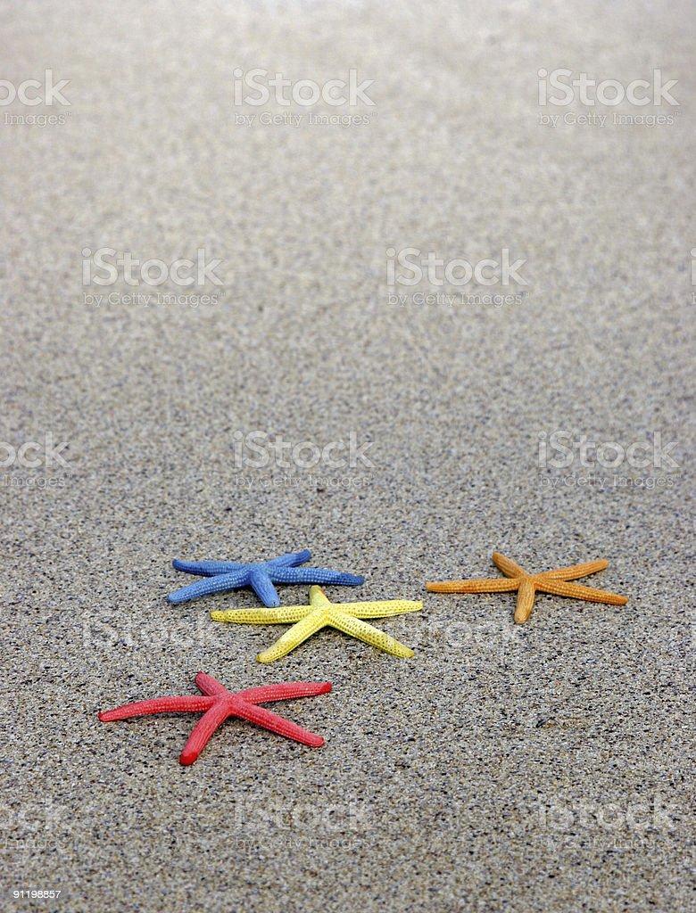 Scattered Starfish stock photo