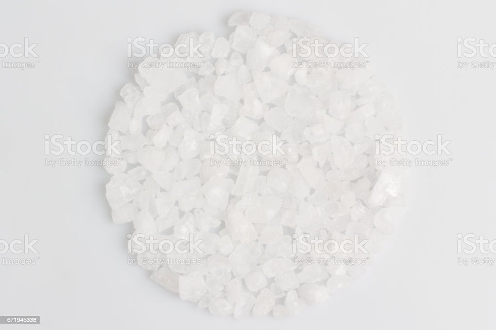 A scattering of sea salt stock photo