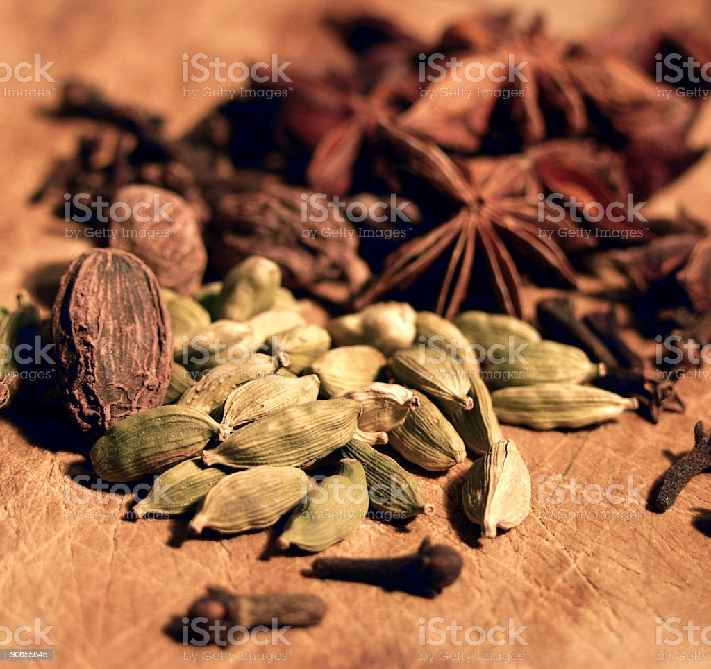 scattering of spices royalty-free stock photo