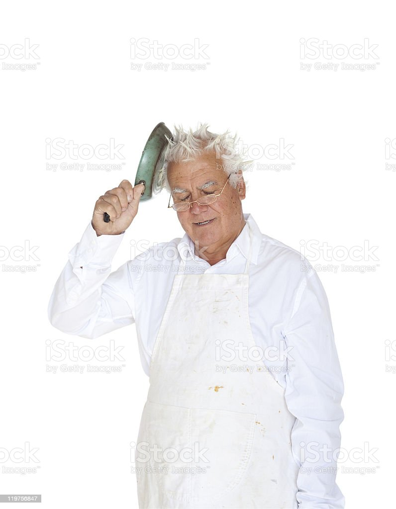 Scatty brain chef. royalty-free stock photo