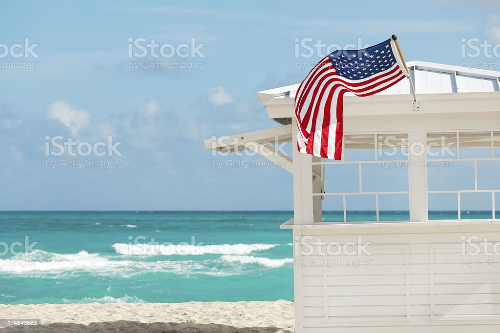 Scence at South Beach, Miami Florida USA Horizontal royalty-free stock photo