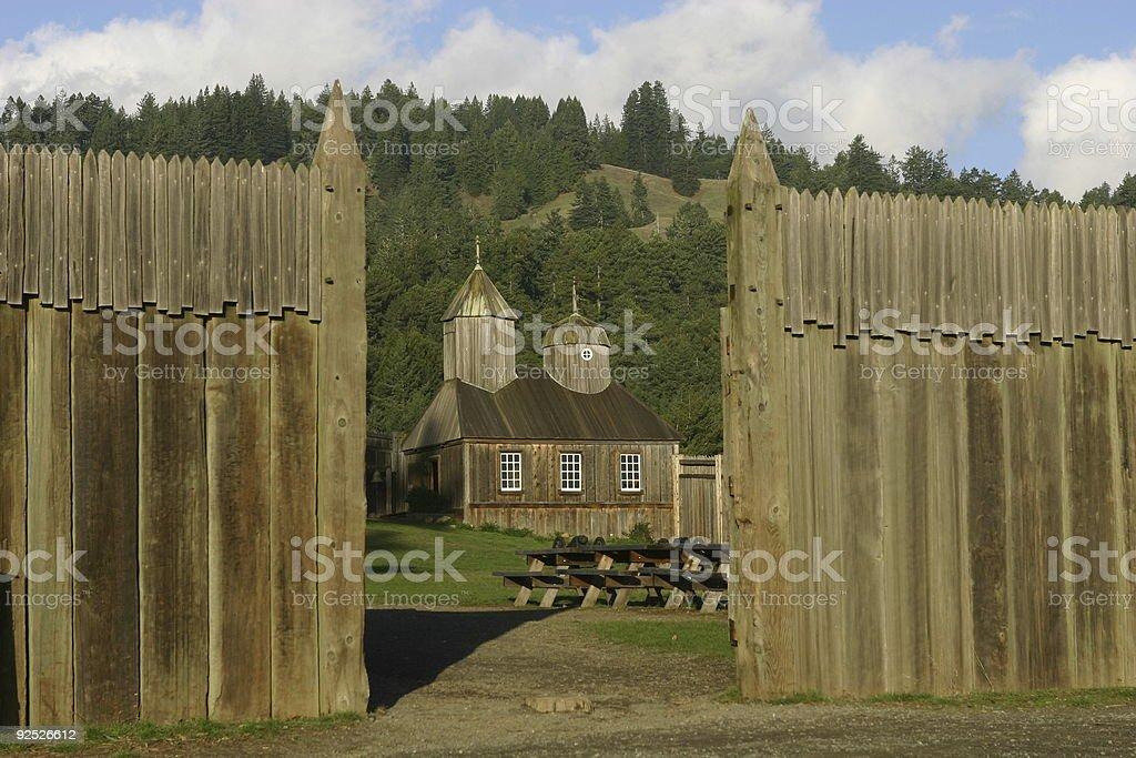 scene 2 from fort ross stock photo