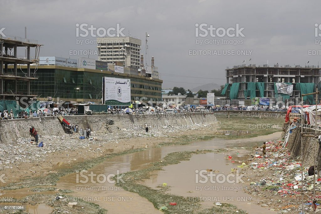 Scene from central Kabul, Afghanistan stock photo